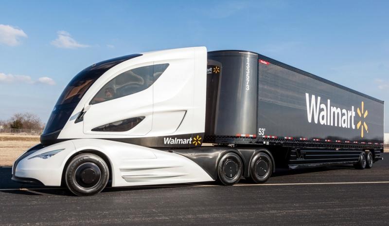 Camion Hibrido de fibra de carbono
