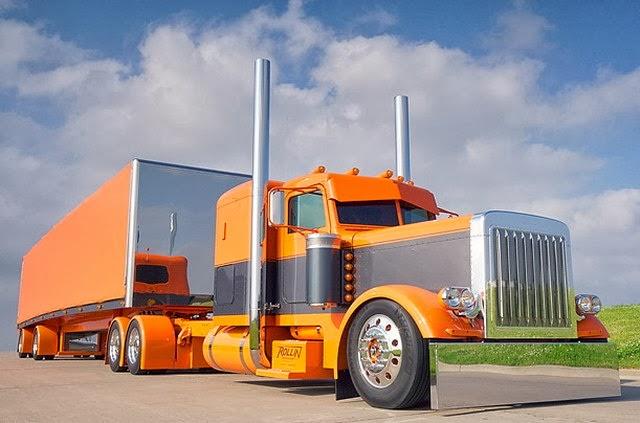 Camion naranja tuneado