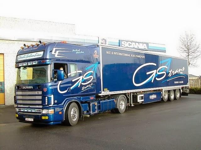 Camion Scania Azul