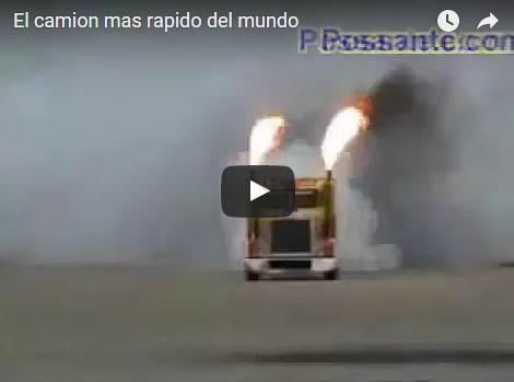 El camion mas rapido del mundo