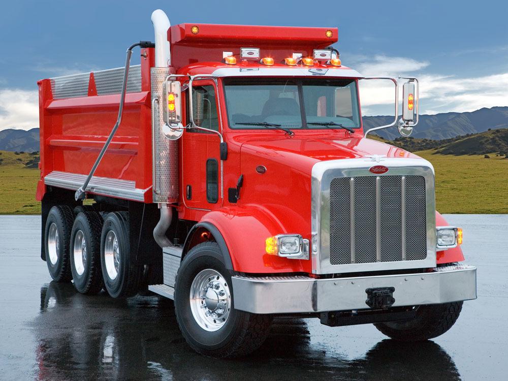 Camion de carga PeterBilt Rojo