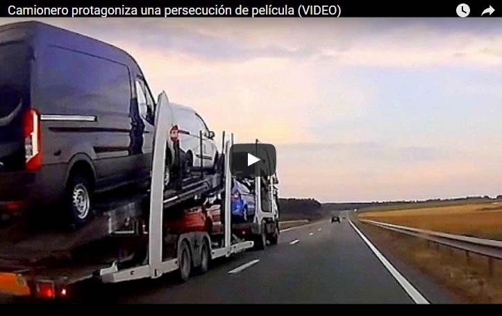 Camionero protagoniza una persecución de película
