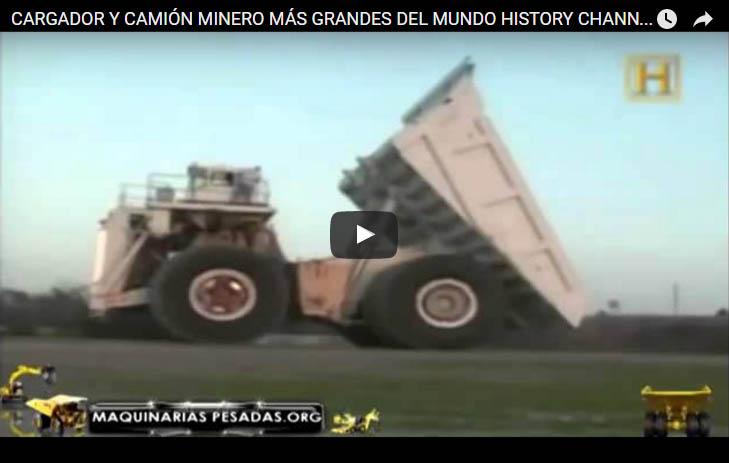 Cargador y Camion minero mas grande del mundo