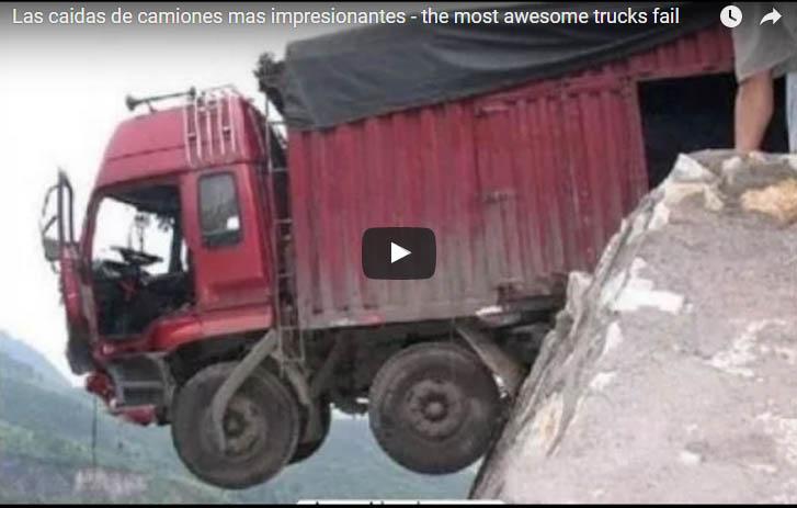 Las caidas de camiones mas impresionantes