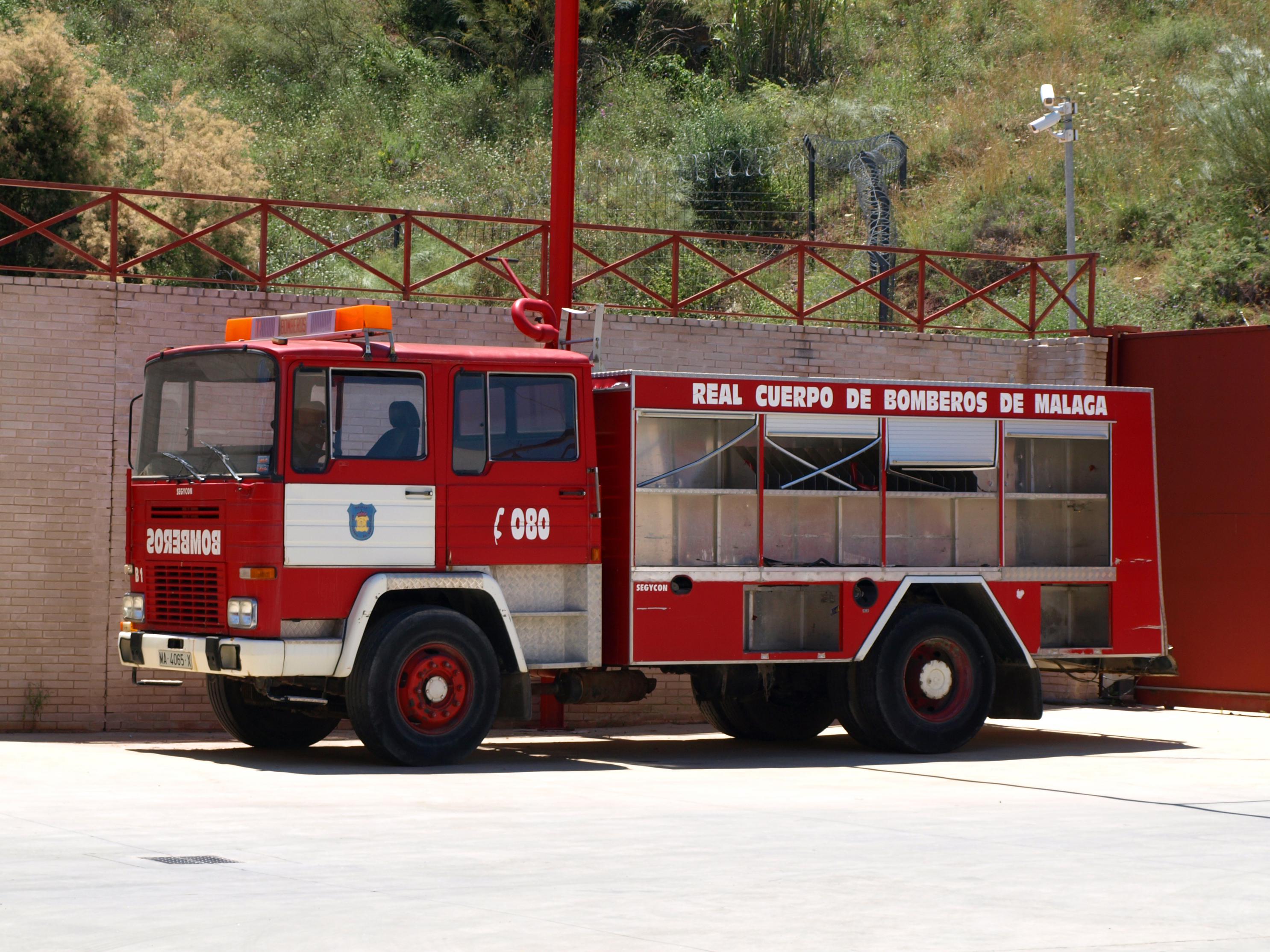Camion bombero Antiguo de Malaga
