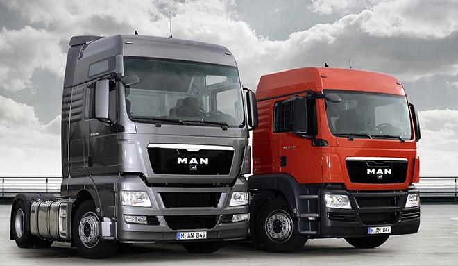 Camion Man gris y rojo