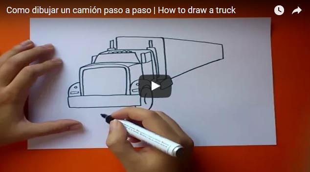 Como dibujar un camion