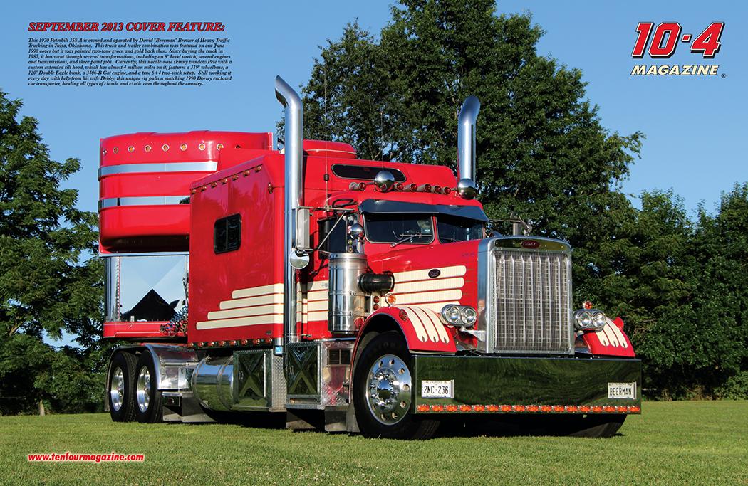 Camion Peterbilt Rojo