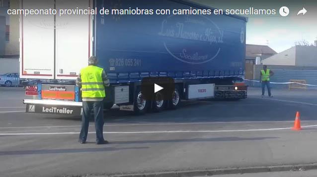 Campeonato provincial de maniobras con camiones en Socuellamos
