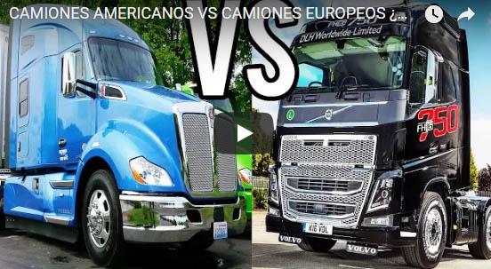 Camiones Americanos VS Camiones Europeos