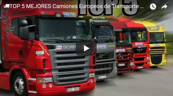 TOP 5 Mejores Camiones Europeos de Transporte PESADO